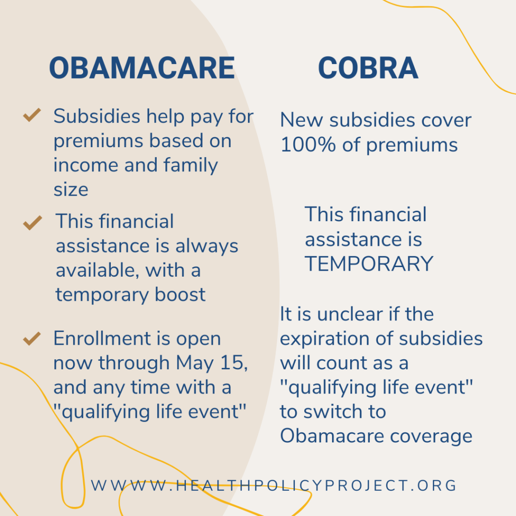 obamacare vs cobra comparison